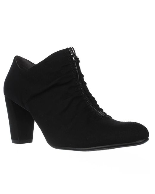 Aerosoles | Black Fortunate Front Zip Scrunch Ankle Boots | Lyst