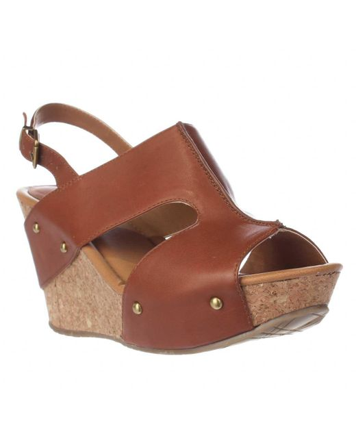 Kenneth Cole   Brown Reaction Sole-o Wedge Sandals   Lyst