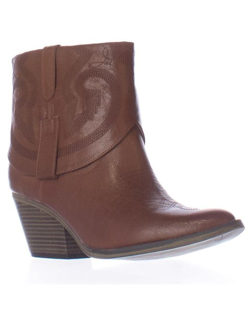 MIA | Brown Joshua Short Western Ankle Boots | Lyst