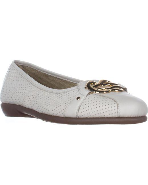 Aerosoles | White High Bet Comfort Ballet Flats | Lyst