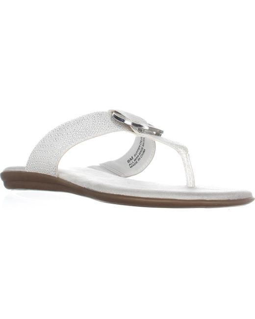 Aerosoles | White Supper Chlub Thong T-strap Flat Sandals | Lyst