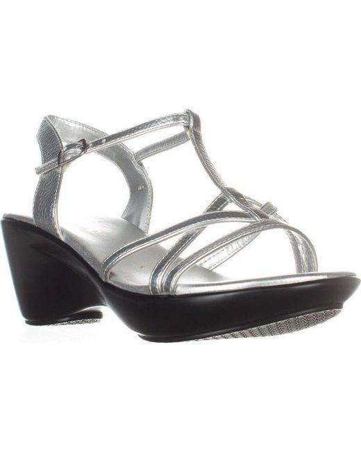 Callisto - Metallic Caressa Wedge Sandals - Lyst