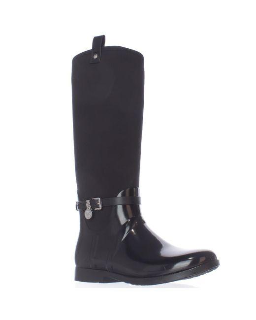 Michael Kors - Black Michael Charm Stretch Rainboots - Lyst