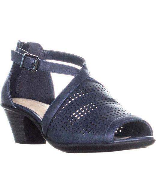 Easy Street - Blue Anita Heeled Sandals - Lyst