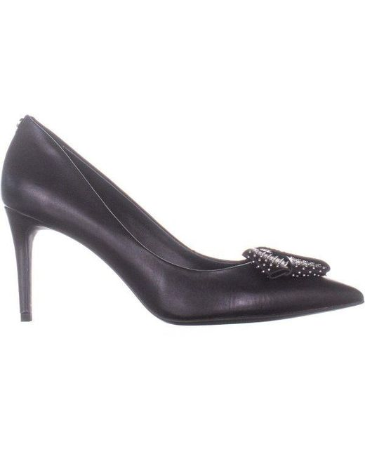 08f427a73cae ... DKNY - Black Livia Bow Tie Pointed Toe Pumps - Lyst ...