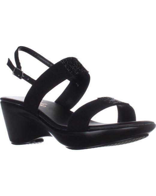 Callisto - Black Minna Comfort Wedge Sandals - Lyst