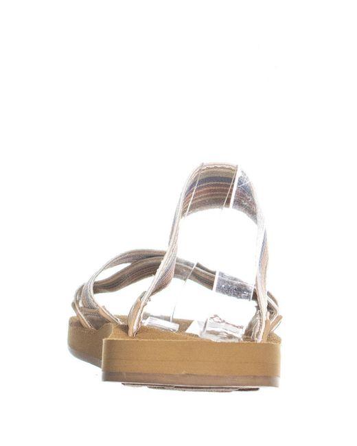 5946b6cf6cfc Roxy multicolor shoreside flat criss cross sandals lyst jpeg 520x650  Shoreside criss