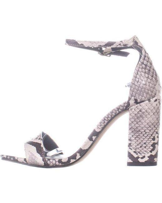 ac6b6caaa7b ... Madden Girl - Black Beella Ankle Strap Dress Sandals - Lyst ...
