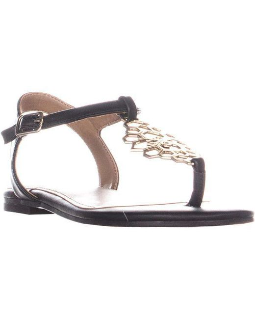 144cb1bbfc26 Aerosoles - Black Short Stack Flat Sandals - Lyst ...
