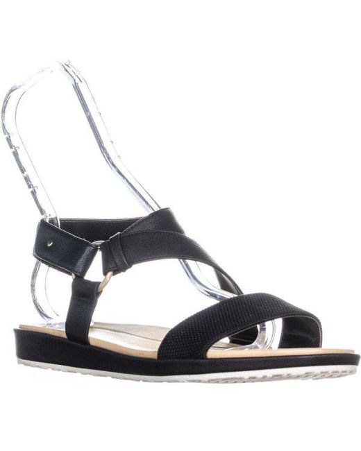 2948c8eaa0a66c Dr. Scholls - Black Powers Flat Sandals - Lyst ...