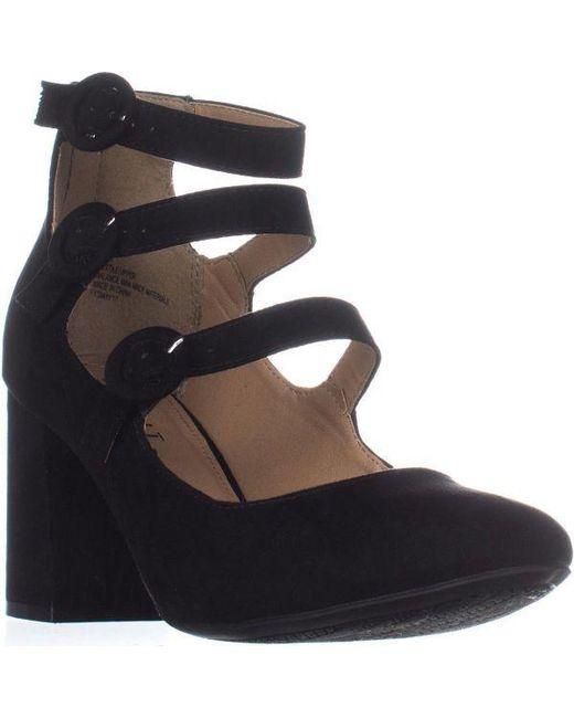 Esprit - Lucy Buckle Ankle Strap Pumps, Black - Lyst