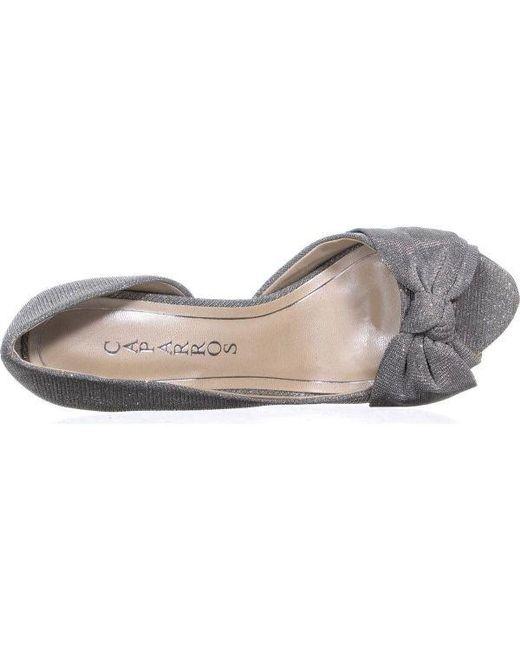 5b41354fc0ba ... Caparros - Metallic Lucky Platform Mesh Dress Sandals - Lyst ...