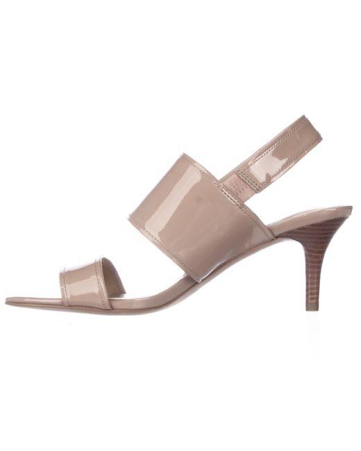 Coach Marla Turnlock Slingback Dress Sandals | Lyst