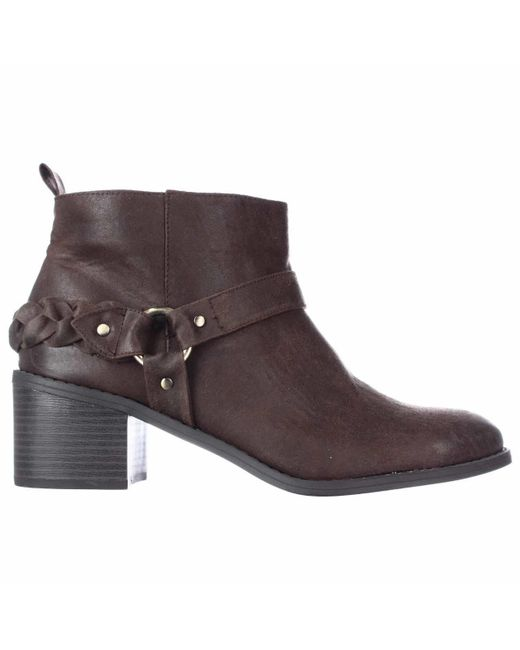 carlos by carlos santana vancouver ankle boots in brown lyst