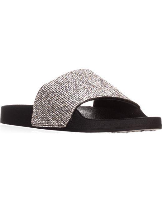 Madden Girl | Black Fancy Slide Sandals | Lyst
