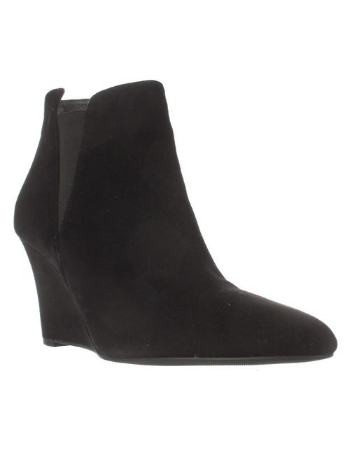 Via Spiga | Black Kenzie Wedge Ankle Booties | Lyst
