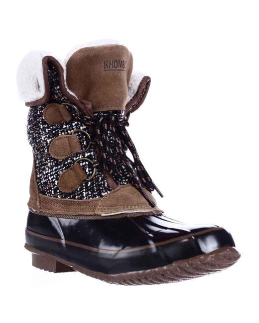 Khombu - Black Jenna Fleece Lined Mid Calf Winter Boots - Lyst