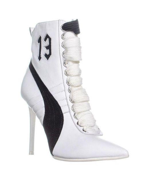 fd47d300201d1f PUMA - White Fenty High Heel Sneaker Ankle Boots - Lyst ...