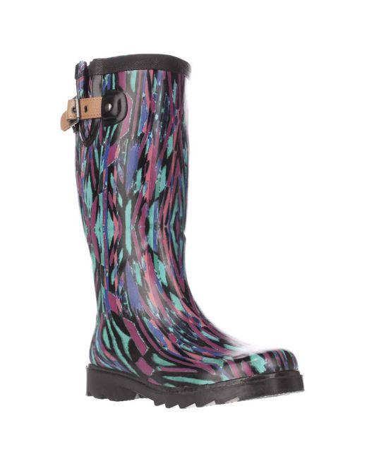 Chooka | Blue Paradox Buckle Rain Boots | Lyst