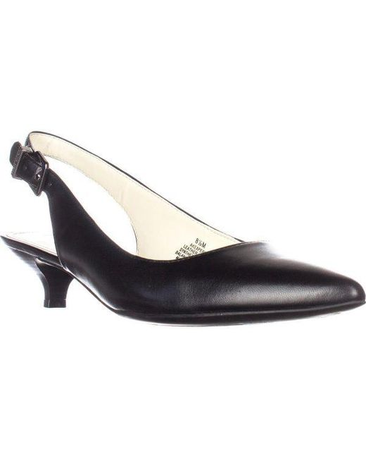 bc8e29e96be Anne Klein - Black Expert Dress Kitten Heels Pumps - Lyst ...