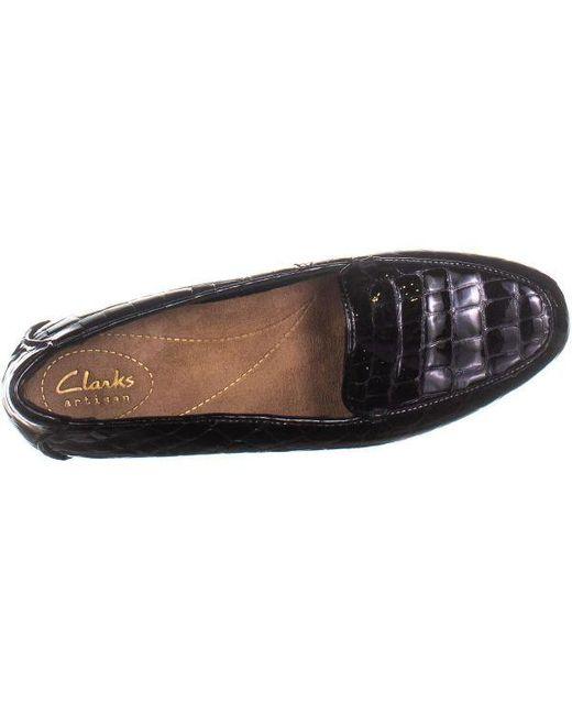 39fc634529e ... Clarks - Black Keesha Luca Slip-on Flats - Lyst ...