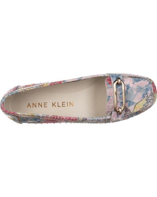 Anne Klein Noris Penny Loafer Flats In Blue Lyst