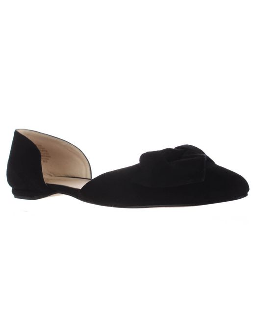 Nine West - Black Stefany Wrap Toe D'orsay Ballet Flats - Lyst