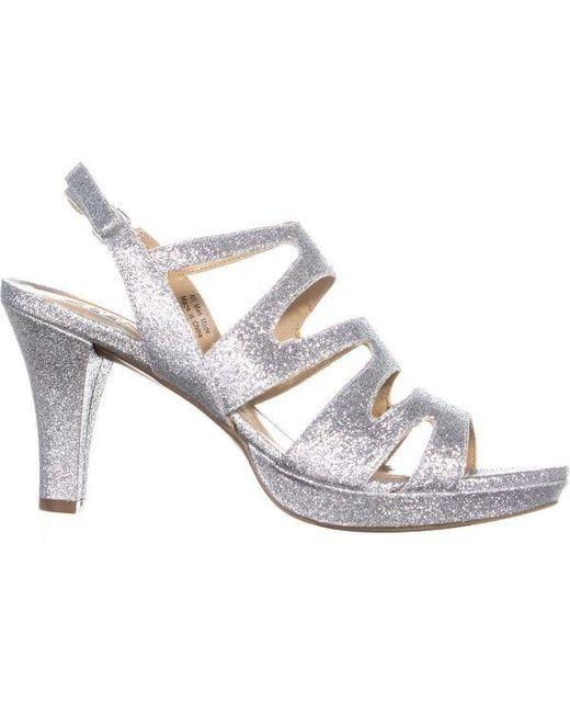 3ff22a511d50 ... Naturalizer - Metallic Pressley Platform Strappy Dress Sandals - Lyst  ...