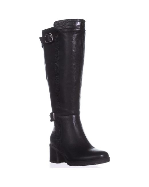 Naturalizer - Black Rozene Wide Calf Riding Boots - Lyst