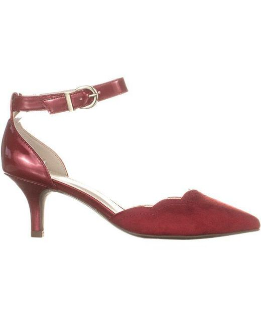 202f988a71f ... Anne Klein - Red Findaway Pointed Toe Ankle Strap Pumps - Lyst ...