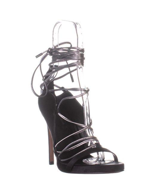 BCBGMAXAZRIA Black Esme Lace Up Sandals