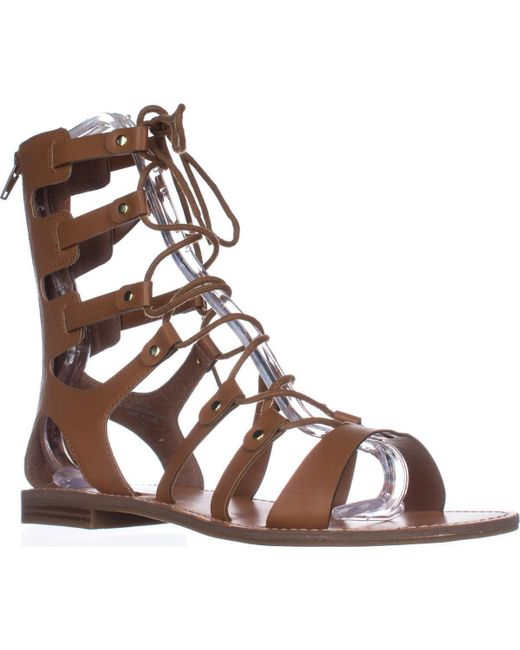 Guess - Natural G Hopey Gladiator Sandals - Lyst