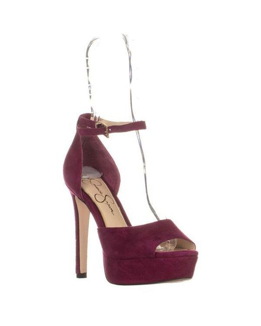 466cca9be8a Jessica Simpson - Purple Beeya Ankle Strap Platform Sandals - Lyst ...