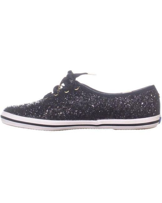 e3b6ecb150 ... Keds - Black X Kate Spade New York Ch Ks Glitter Lace Up Sneakers - Lyst  ...