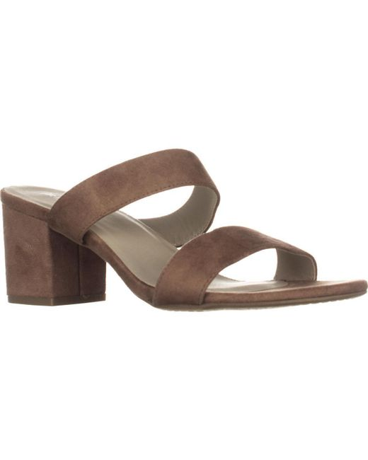 Rialto | Brown Cannon Strappy Mule Sandals | Lyst