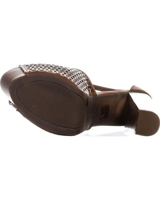 60b23a16eec6 ... Jessica Simpson - Brown Dany5 T-strap Perforated Platform Sandals - Lyst