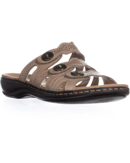 258953a6821 Lyst - Clarks Leisa Grace Platform Slip On Sandals in Brown - Save ...