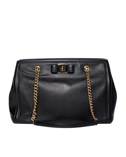 Ferragamo - Black Medium Melike Handbag - Lyst