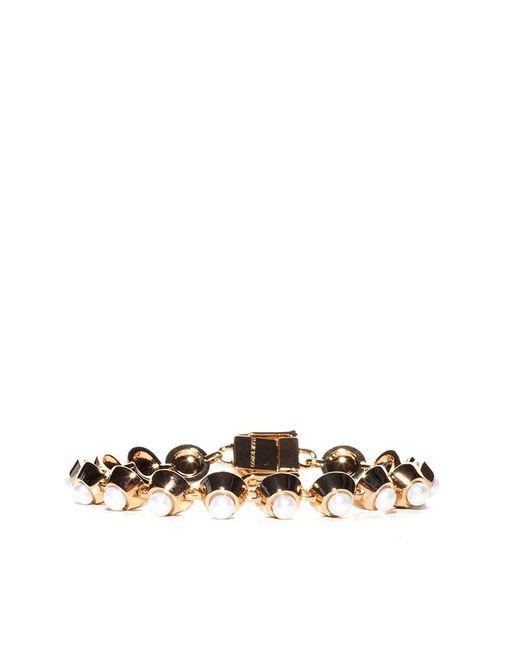 Eddie Borgo - Metallic Pearl Cabochon Bracelet - Lyst
