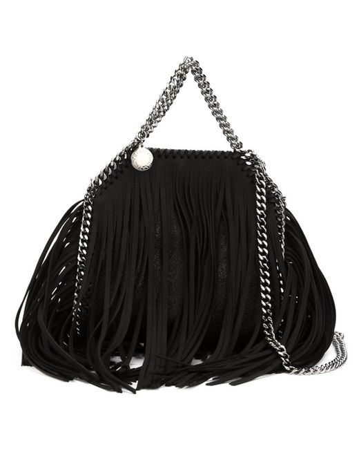 Stella McCartney | Black 'large Falabella - Shaggy Deer' Faux Leather Tote | Lyst