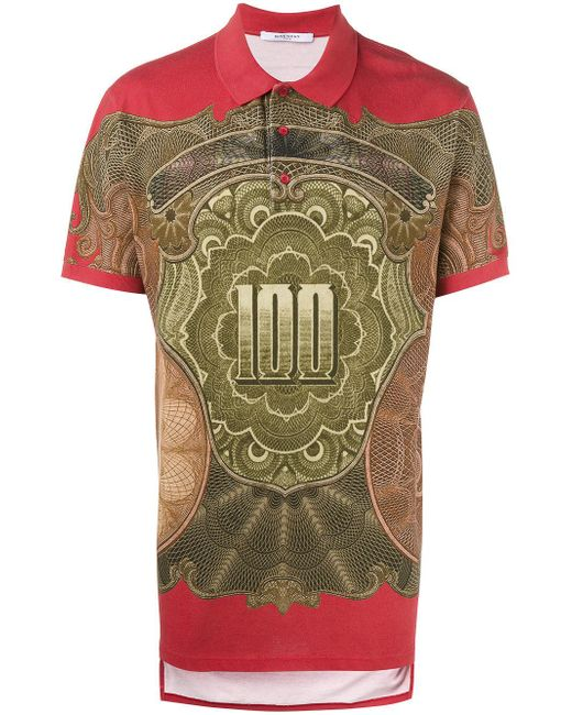 Givenchy | Multicolor Dollar Print Polo Shirt for Men | Lyst