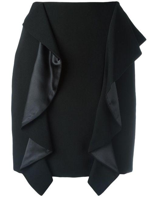 Givenchy   Black Draped Panel Mini Skirt   Lyst