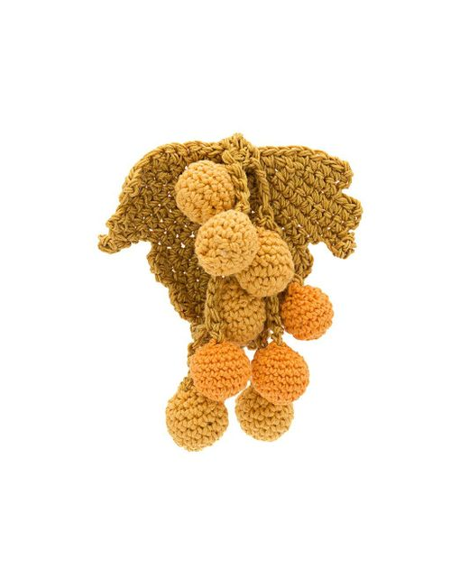 Rosie Assoulin   Yellow Knitted Chunky Earring   Lyst