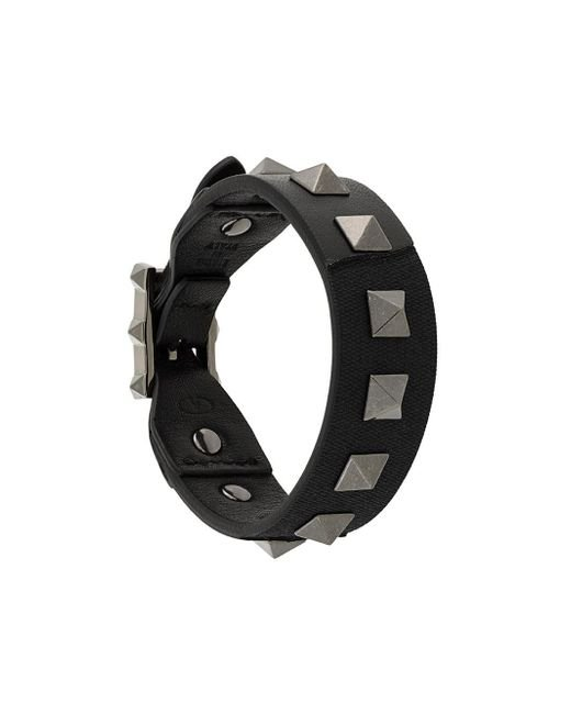 Valentino   Black Rockstud Bracelet for Men   Lyst