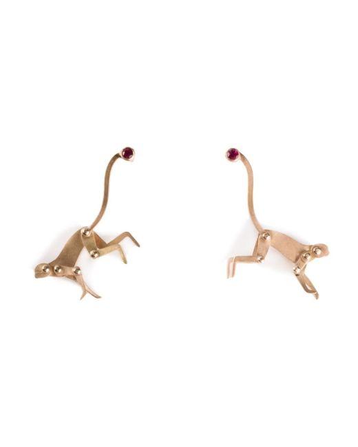 Marc Alary | Metallic Ruby Monkey Earrings | Lyst