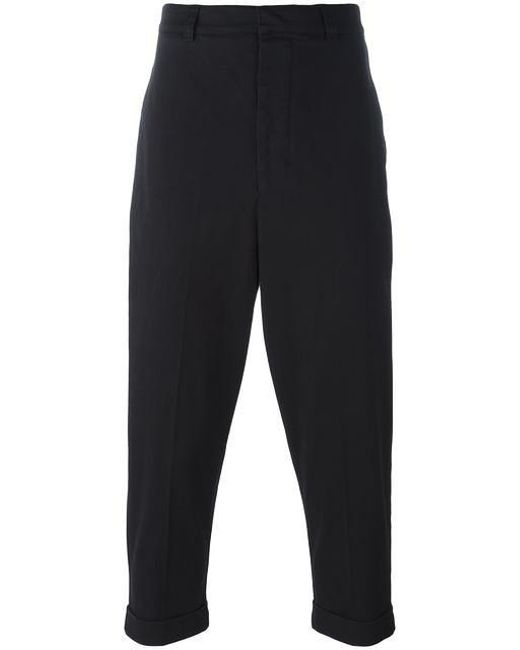 AMI - Black Oversize Carrot-fit Trousers for Men - Lyst