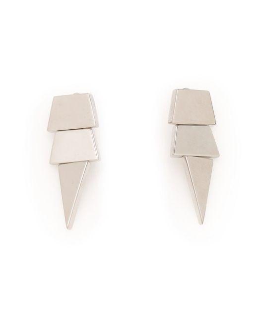 Eddie Borgo | Metallic Large Scaled Triangle Earrings | Lyst