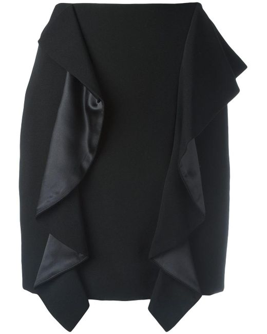 Givenchy - Black Draped Panel Mini Skirt - Lyst