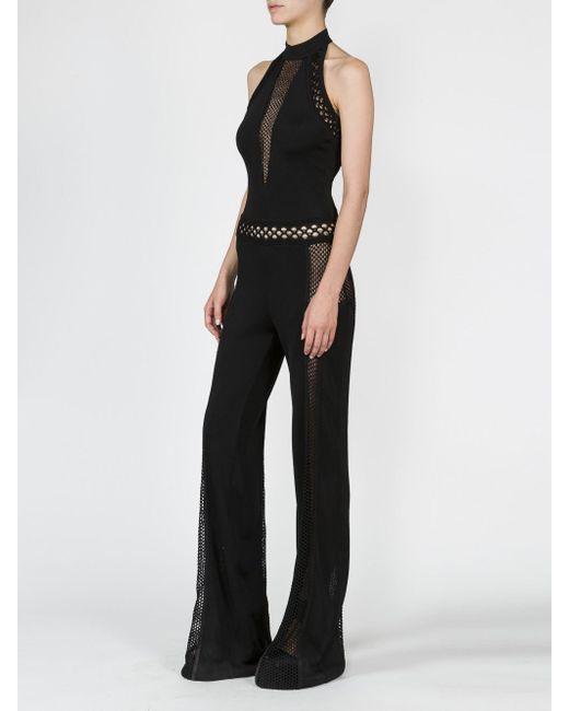 45278870136 Lyst - Balmain Black Halterneck Jumpsuit in Black - Save 36%