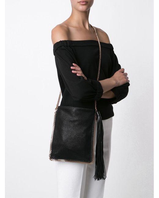 Stella McCartney | Black Falabella Mini Star Shoulder Bag | Lyst